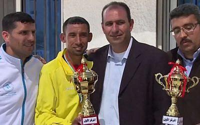 Palestinian Olympic marathoner Nader Masri. (photo credit: image capture YouTube)