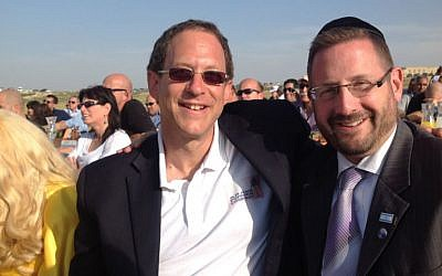 Abramowitz with MK Dov Lipman (photo credit: courtesy Yosef Abramowitz)