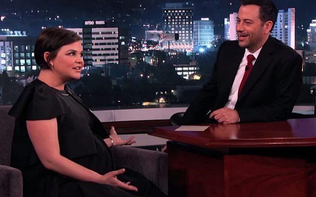 Actress Ginnifer Goodwin on Jimmy Kimmel last week. (YouTube screenshot)