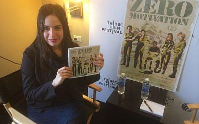 Writer/director Talya Lavie at the Tribeca Film Festival, April 2014 (courtesy: Jordan Hoffman/Times of Israel.)