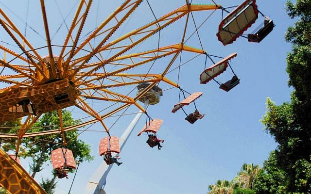 The carousel at Tel Aviv's Luna Park (photo credit: Gili Yaari/Flash 90)