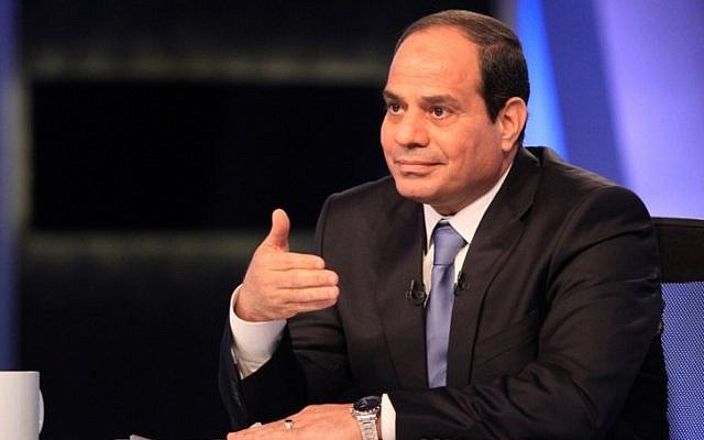 Egyptian President Abdel Fattah el-Sissi on May 4, 2014. (photo credit: AFP/STR)