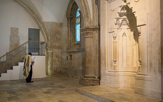 Tthe Cenacle, or Upper Room, on Mount Zion just outside the Old City, where Christians believe Jesus held the Last Supper, is revered by Jews as the site of King David's tomb. (AFP/Constance Decorde)