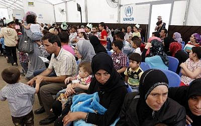 Illustrative photo of Syrian refugees, May 29, 2014 (AFP/Anwar Amro)
