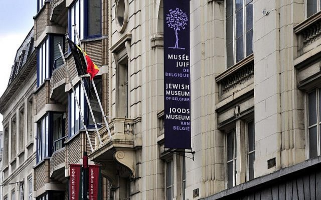 View of the Jewish Museum of Brussels taken on May 25, 2014, where a deadly shooting took place the day before. (AFP/Georges Gobet)