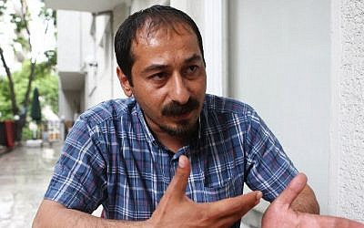 Mustafa Sarisuluk, brother of 26-year-old Ethem Sarisuluk, who was shot dead by police during anti-government protests in 2013 in Ankara, speaks to AFP on May 29, 2014 in the Turkish capital. (photo credit: Adem Altan/AFP)