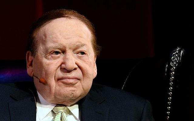 Casino magnate and Republican megadonor Sheldon Adelson in Las Vegas, Nevada, 2014. (Ethan Miller/Getty Images/AFP)