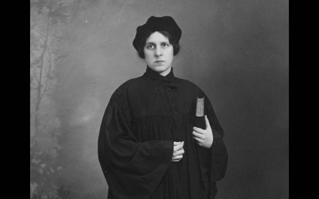 The first woman rabbi, Regina Jonas, at her ordination. (courtesy)
