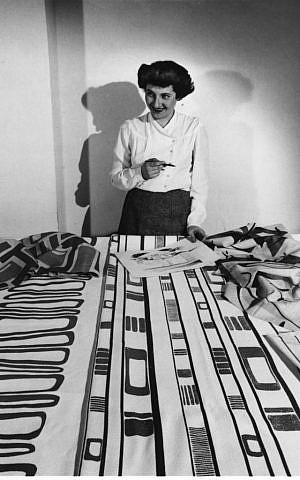 Ruth Adler Schnee with Slits and Slats, 1947. Photograph, 8 x 10 in. Courtesy Cranbrook Archives, The Edward and Ruth Adler Schnee Papers.