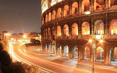 The Colosseum at night, Rome, Italy (photo credit: Kaosrimo Marco Rimoldi/Wikimedia Commons/File)