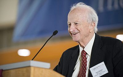 Gary Becker speaking in 2012. (photo credit: courtesy Becker Friedman Institute)