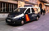Illustrative photo of a Spanish police car (photo credit: Wikimedia Commons/CC BY-SA 3.0)