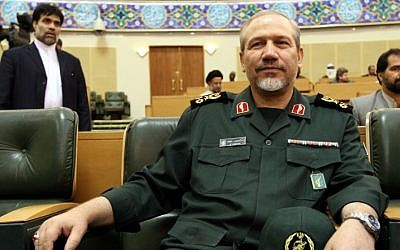 Senior Advisor to Supreme Leader in Military Affairs, Yahya Rahim Safavi at an inaugural ceremony marking the opening of the 4th international general assembly of the Shiite Ahlul-Bayt (members of Prophet Muhammad household) in Tehran, Iran, on Saturday Aug. 18, 2007. (photo credit: AP/Hasan Sarbakhshian/File)