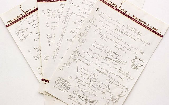"A working draft of Bob Dylan's ""Like a Rolling Stone,"" one of the most popular songs of all time. The draft, in Dylan's own hand, is coming to auction in New York on June 24, 2014 where it could fetch an estimated $1 million to $2 million.  (photo credit: AP Photo/Sotheby's)"