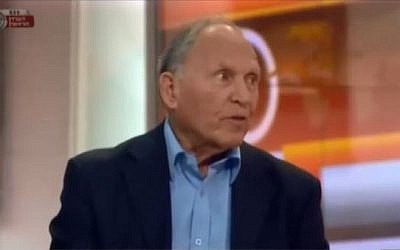Former director of the Israel Atomic Energy Commission, Uzi Eilam. (screen capture: YouTube/INSS Israel)