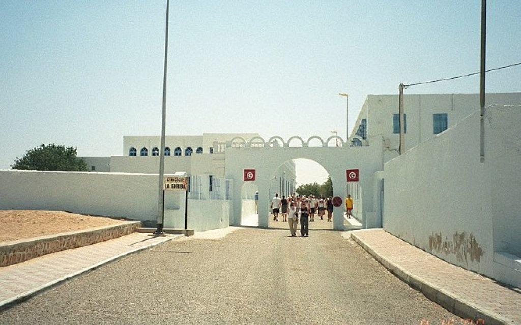 The Ghriba Synagogue on the island of Djerba, Tunisia (photo credit: upyernoz/Wikimedia commons/File)