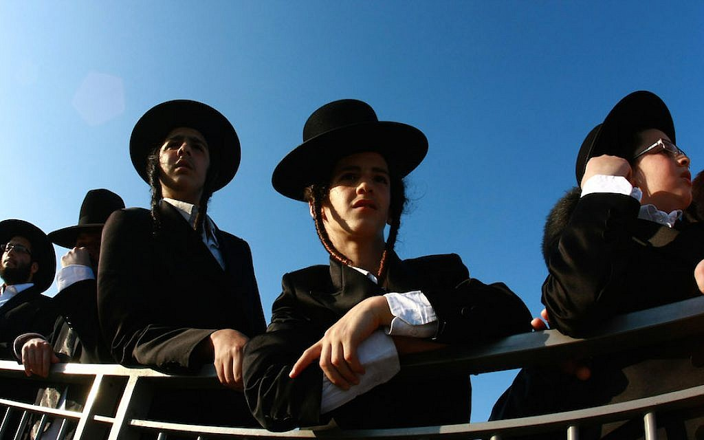 Illustrative: Haredi boys. (Rishwanth Jayapaul/Flash90)