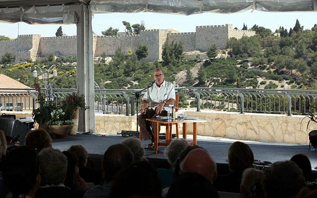 Meir Shalev, pictured here at a previous festival, will be speaking Thursday, May 22, at 7 pm (photo credit: Yossi Zamir/Flash 90)