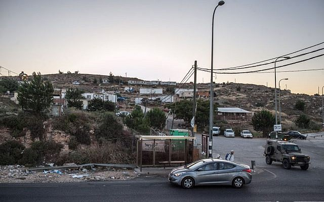 A view of the Givat Assaf outpost, located near the Jewish settlement of Beit El in the West Bank (photo credit: Noam Moskowitz/Flash90)