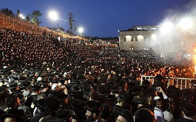 Lag B'Omer celebrations on Mt. Meron in 2013. (photo credit: Yaakov Naumi/Flash90)