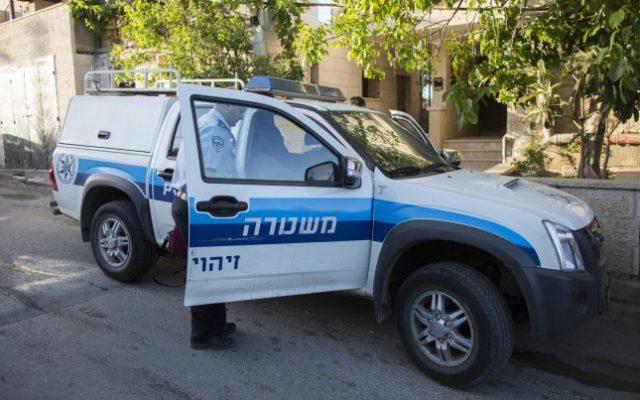 Illustrative photo of a police car.  (Photo credit: Yonatan Sindel/Flash90)