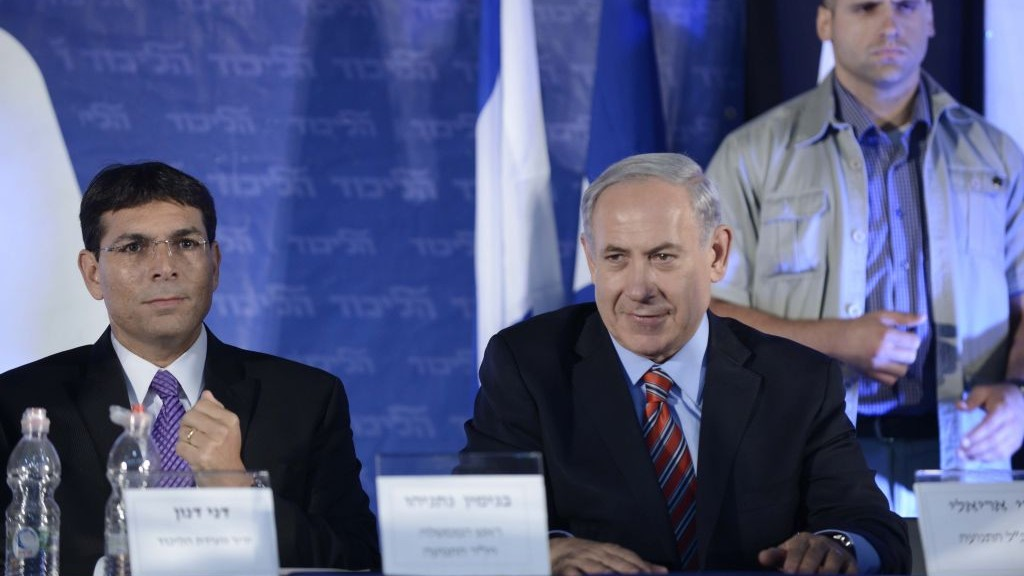 Bosom buddies. Prime Minister Benjamin Netanyahu, right, and Danny Danon (photo credit: Tomer Neuberg/Flash90)