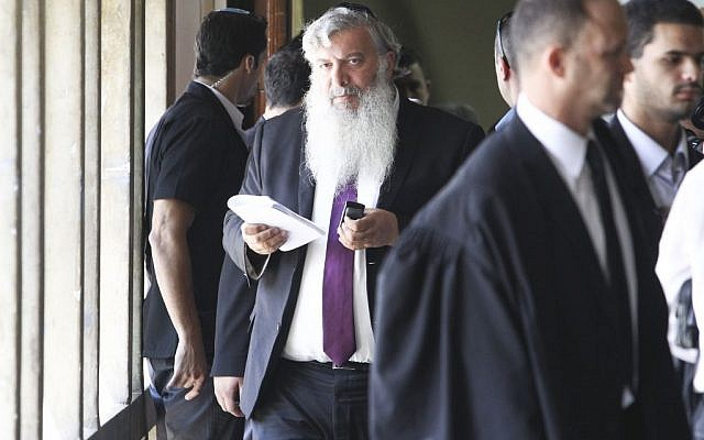 Eliezer Simhayoff at his sentencing at the Tel Aviv District Court, Tuesday, May 13, 2014 (photo credit: Yotam Ronen/POOL/Flash90)