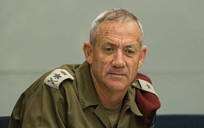 IDF Chief of Staff Benny Gantz (Flash 90)
