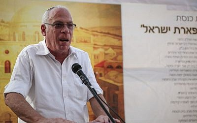 Housing Minister Uri Ariel speaks at an event in the Jewish Quarter of the Old City of Jerusalem on Tuesday (photo credit: Hadas Parush/Flash90)