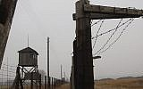 In this Nov. 9, 2005 file picture watch towers and a barbed wire fence of the former Nazi death camp Majdanek outside the city of Lublin in eastern Poland are photographed.  (Photo credit: AP/ Czarek Sokolowski,file)