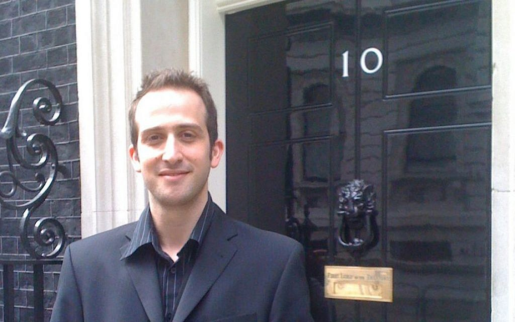 Tal Ofer at No. 10 Downing Street while working for an MP. (courtesy)