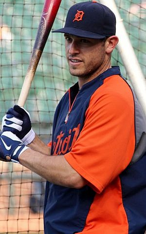 Ian Kinsler is thriving in his first couple of months in Detroit after being traded from the Texas Rangers. (Hillel Kuttler/JTA)