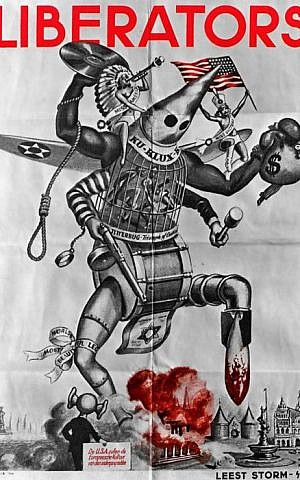 Nazi propaganda poster used by Vassar's chapter of Students for Justice in Palestine. (courtesy)