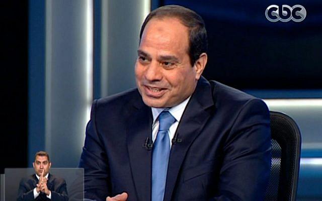 Abdel-Fattah el-Sissi. (photo credit: AP/Egypt's State Television)