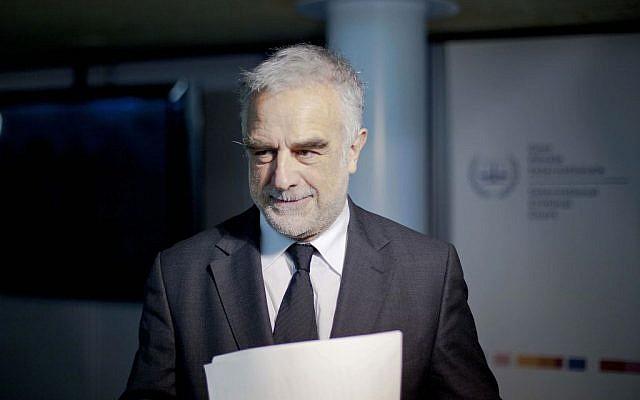 Former International Criminal Court prosecutor Luis Moreno-Ocampo (photo credit: AP Photo/Peter Dejong, File)