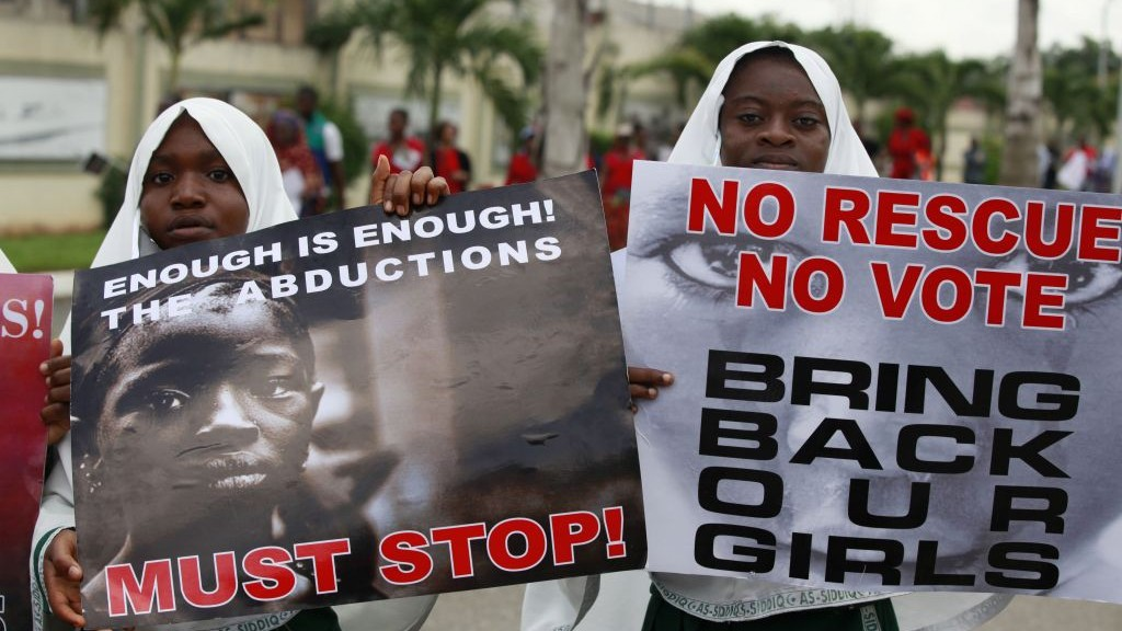 Nigeria islamists threaten to sell kidnapped girls the times of muslim girls attend a demonstration calling on the government to rescue 276 girls who were kidnapped publicscrutiny Image collections