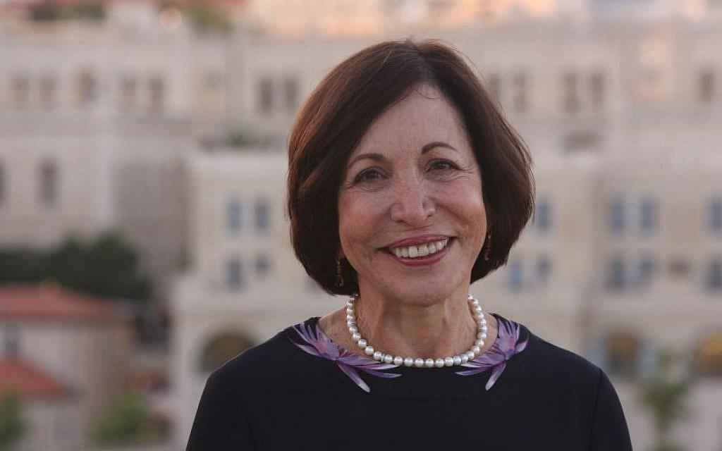 JDC board president Penny Blumenstein in Jerusalem. (Sasson Tiram)