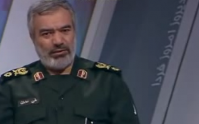 Commander of the Islamic Revolution Guards Corps Navy Rear Admiral Ali Fadavi (YouTube screenshot)