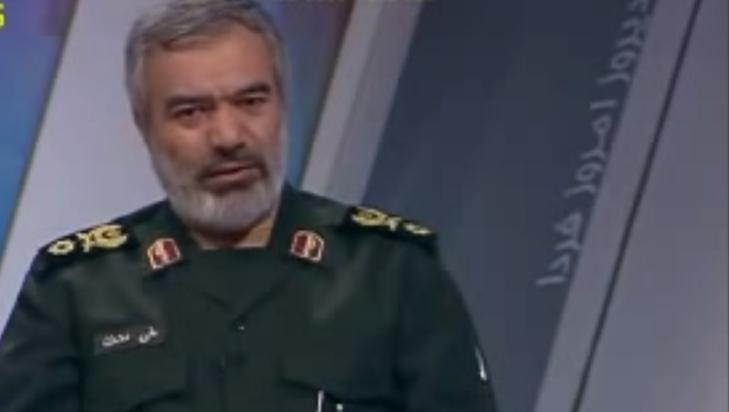 Ali Fadavi, IRGC Navy commander. (YouTube screenshot)