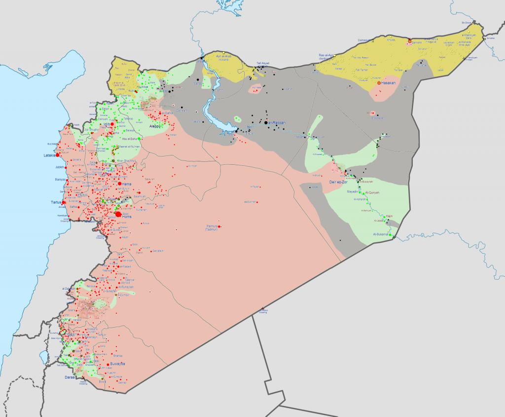 Syrian Civil War - Map Timelapse - YouTube  Syrian Civil War Frontline Map