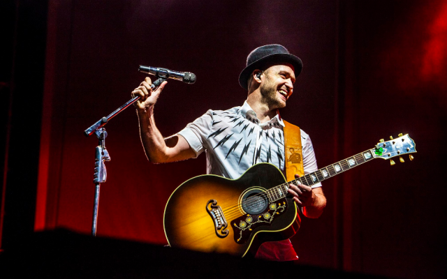 Justin Timberlake on the JT2020 tour (Courtesy Justin Timberlake)