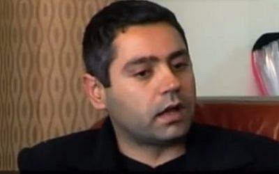 Druze activist Yamen Zeidan (photo credit: Youtube image grab)