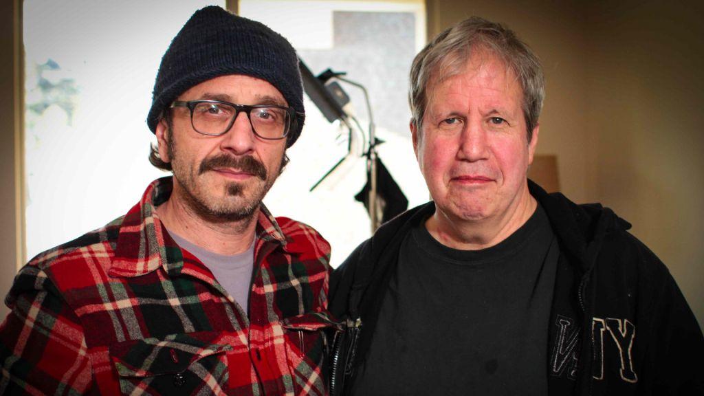 Alan Zweig, left, with comedian Marc Maron. (photo credit: Courtesy Alan Zweig)