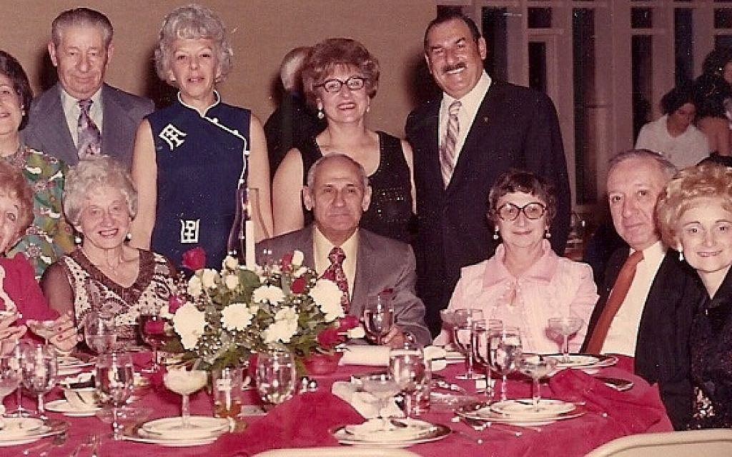 Lou and Helen Showstack, second and third from right, attending the 1973 bar mitzvah of Bruce Pearl near Boston. (Courtesy Bernie Pearl/JTA)