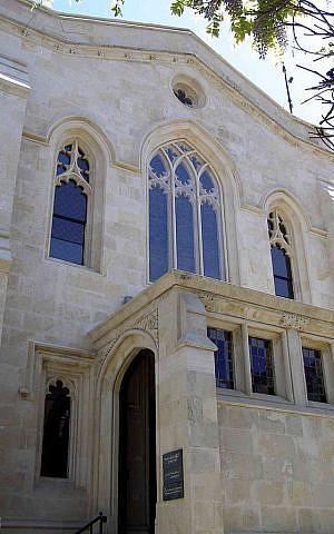 Christ Church Jerusalem (photo credit: Ranbar/ Wikimedia Commons cc-by-sa-3.0)