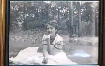 Alexander Imich's wife Wela, who died in 1986, in her youth. (screen capture, YouTube)