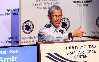 Israeli Air Force commander Amir Eshel (photo credit: Sivan Farraj)