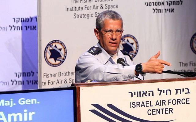 Israeli Air Force commander Amir Eshel (photo credit: Sivan Farraj)