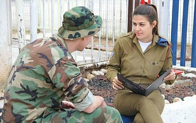 A Gahelet instructor with an IDF inmate (photo credit: courtesy IDF Spokesperson's Unit)