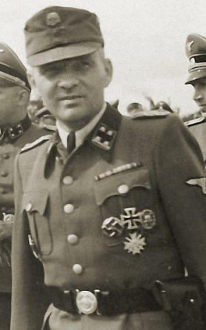 SS-Obersturmbannführer (lieutenant colonel) Rudolf Höss at Auschwitz, in 1943. (Photo credit: Wikimedia)